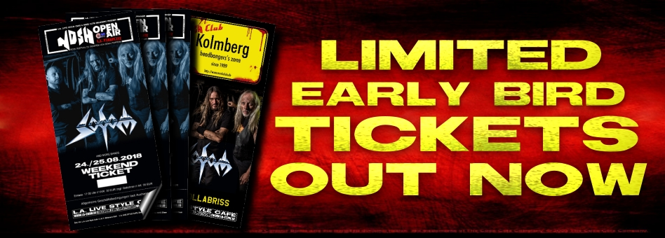 SODOM bestätigt !!! Early Bird Tickets OUT NOW !!!